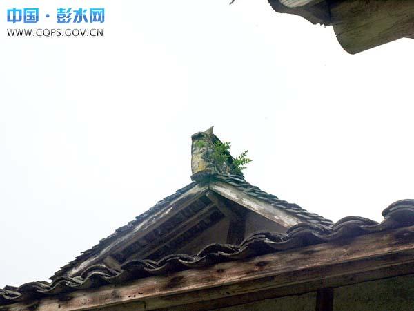 屋檐正面手绘图